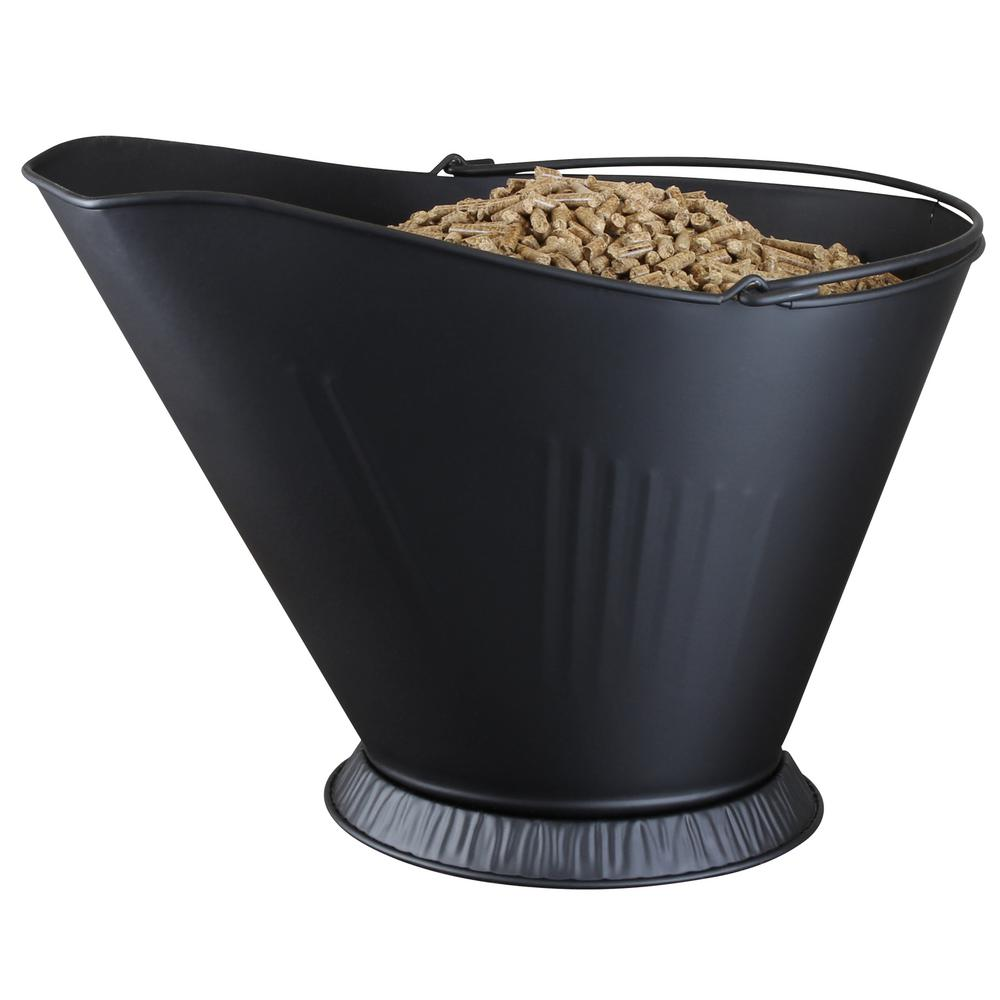 Accent your fireplace or stove with this decorative functional Pellet/Coal hod. Traditionally used to feed coal into top loading coal stoves this hod now serves to help hold cooled ashes