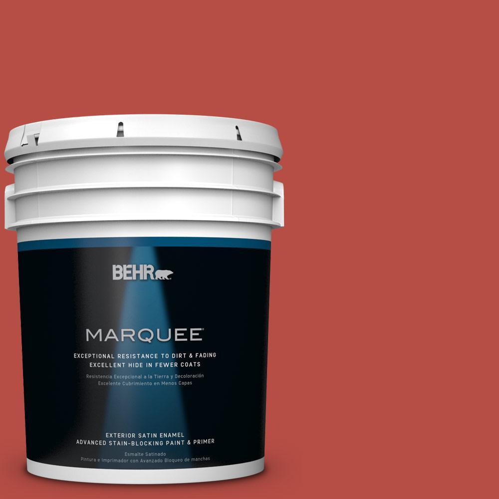 5-gal. #M160-7 Raging Bull Satin Enamel Exterior Paint