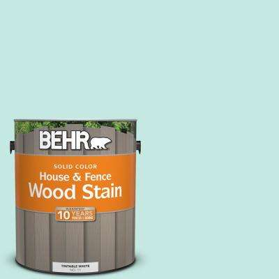 1 gal. #P440-2 Clear Aqua Solid House and Fence Exterior Wood Stain