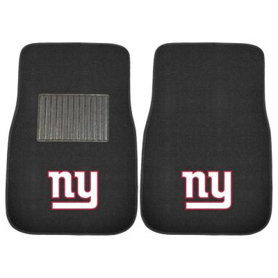 NFL New York Giants 2-Piece 17 in. x 25.5 in. Carpet Embroidered Car Mat