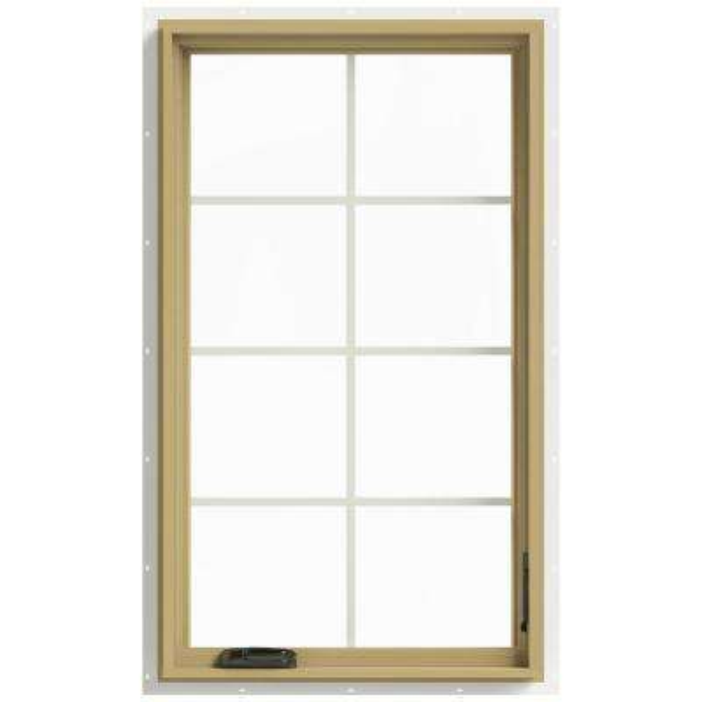 28 in. x 48 in. W-2500 Right Hand Casement Aluminum Clad Wood Window