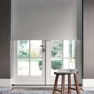Cut-to-Width Slate Fabric Blackout Cordless Roller Shade - 72 in. W x 72 in. L