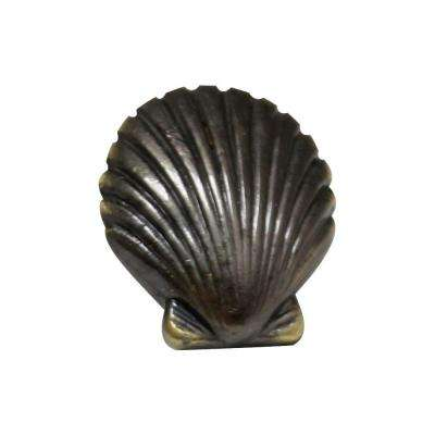 1-3/8 in. Bronze Seashell Cabinet Knob