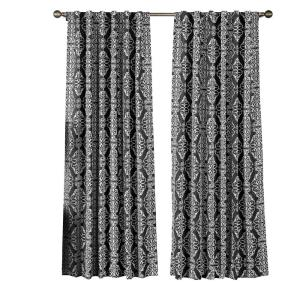 Window Elements Semi-Opaque Addison Printed Cotton Blend 84 inch L Rod Pocket and Back Tabs Curtain Panel Pair in... by Window Elements