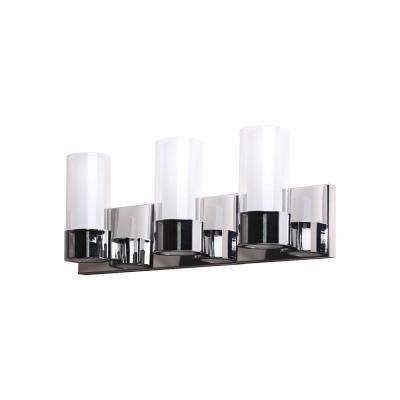 Martigny 3-Lights Chrome Bath Light