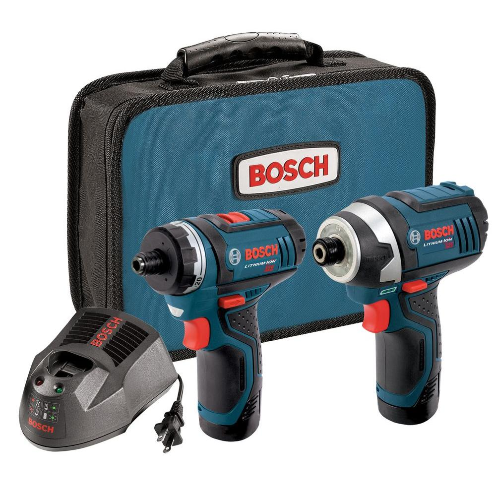 Bosch Factory Reconditioned Lithium-Ion Cordless Combo Kit with Pocket Driver and Fastening Driver (2-Tool)