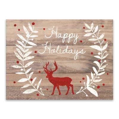 """""""Happy Holidays Glitter Reindeer"""" by Lot26 Studio Printed Canvas Wall Art"""