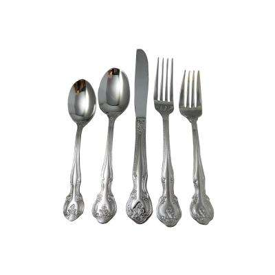 Baroque 20-Piece Stainless Steel Flatware Set
