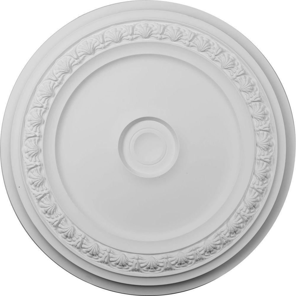 Ekena Millwork 31-1/8 in. x 31-1/8 in. x 1-1/2 in. Polyurethane Carlsbad Ceiling Medallion