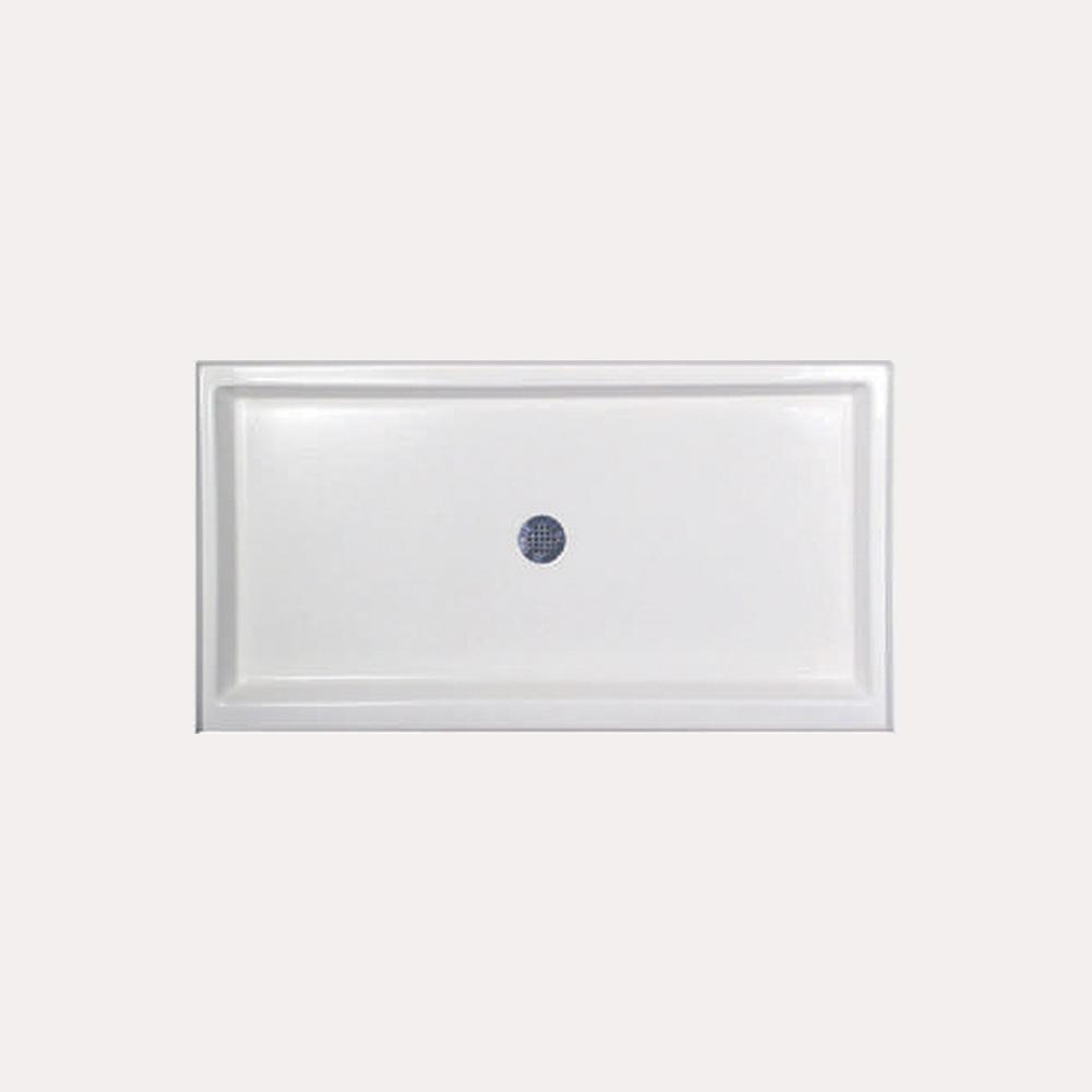 Hydro Systems 60 in. x 34 in. Single Threshold Shower Base in White