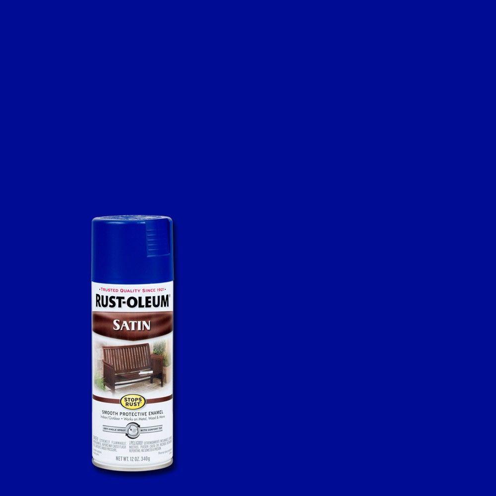 12 oz. Protective Enamel Satin Sapphire Spray Paint