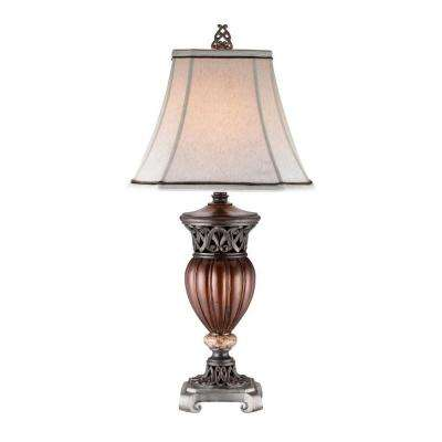 32 in. Wooden Color Table Lamp