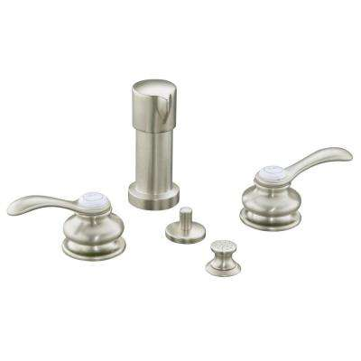 Fairfax 2-Handle Bidet Faucet in Vibrant Brushed Nickel