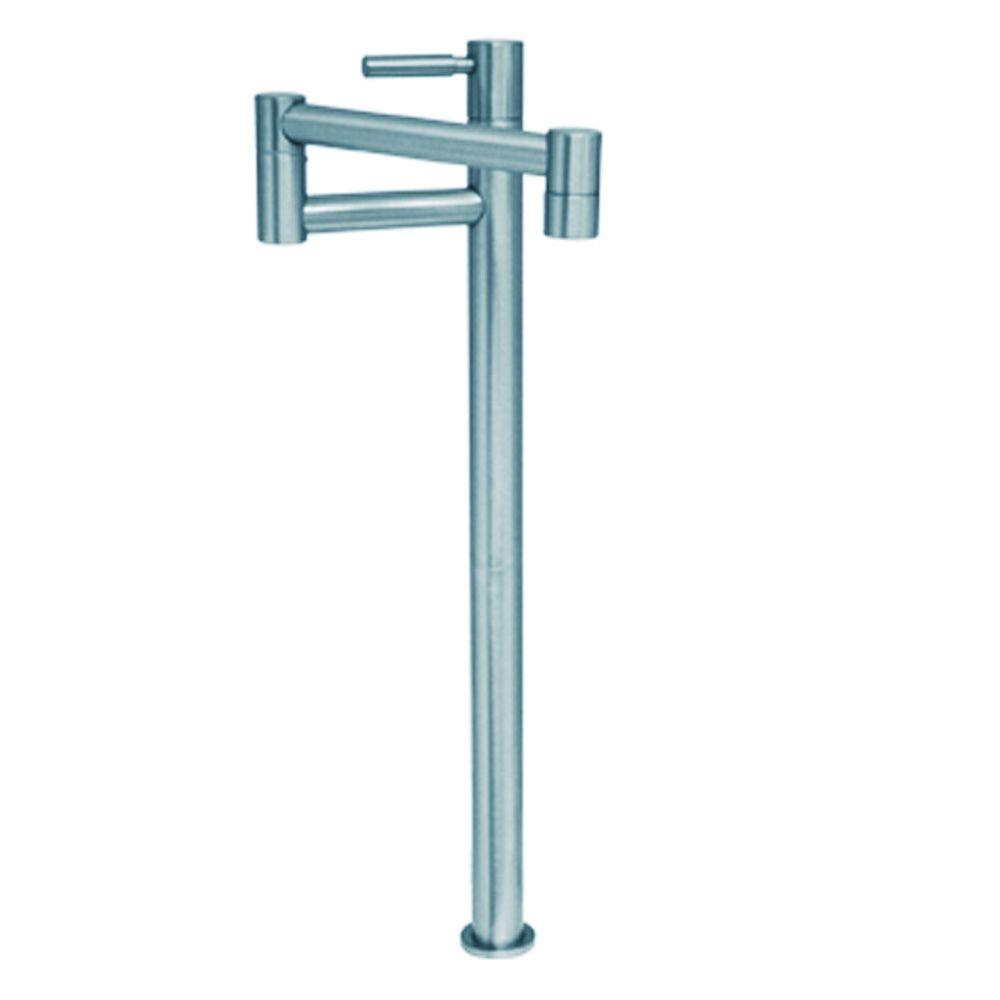 Whitehaus Collection Decohaus Tall Deck Mounted Potfiller with Lever Handle in Polished Chrome