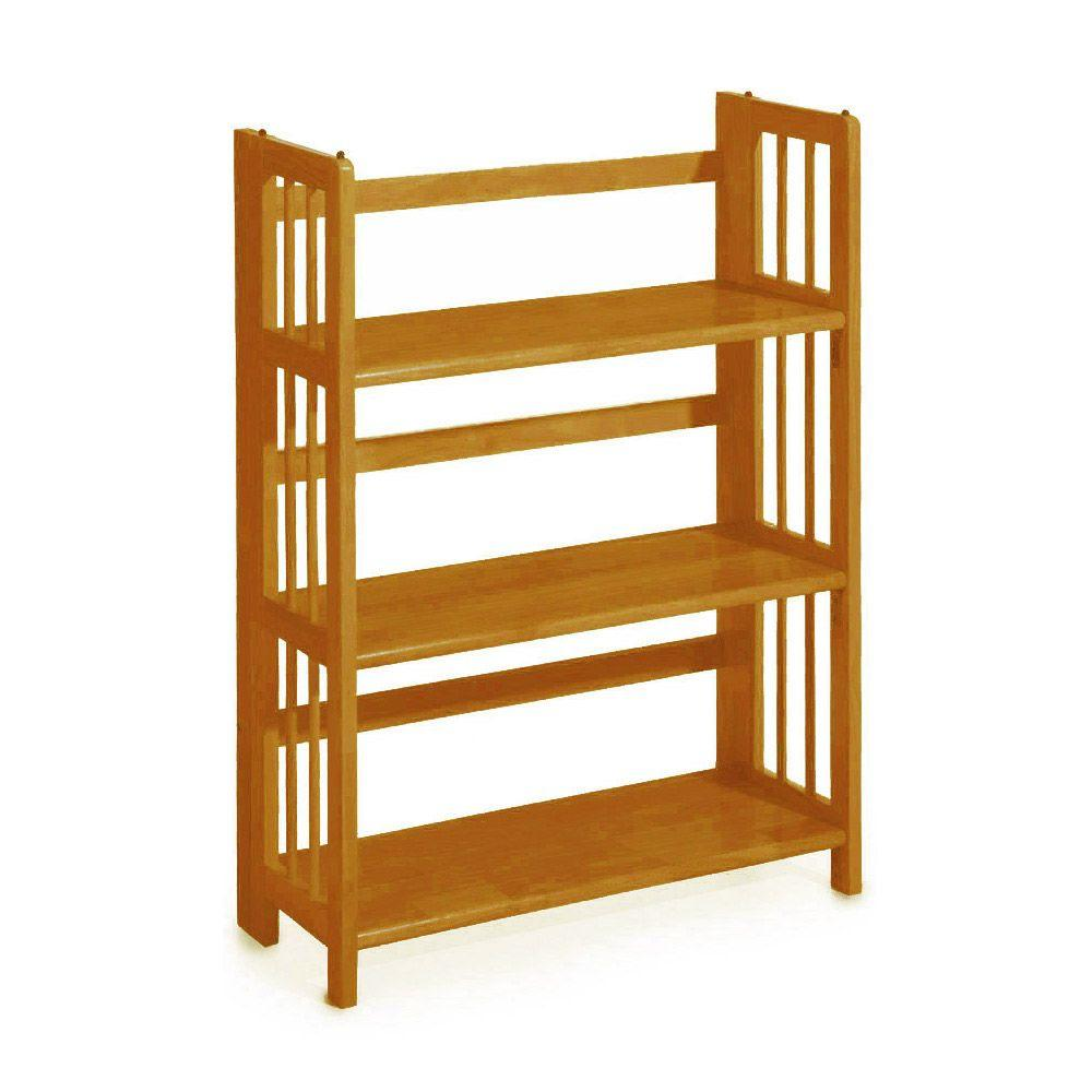 Brand-new JIA HOME 13 in. x 36 in. Espresso Wood Folding 3 Tier Ladder  AW94