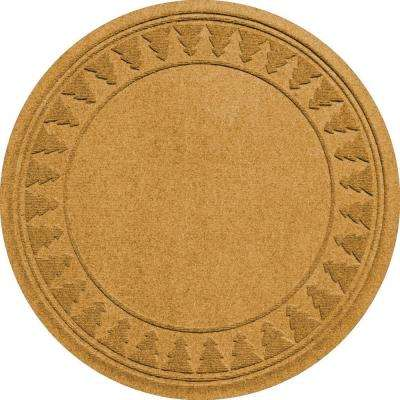 Gold 35 in. Round Pine Trees Under the Tree Mat