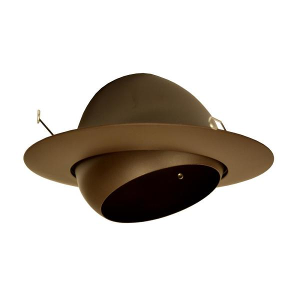 NICOR 6 in. Oil Rubbed Bronze Recessed Eyeball Trim