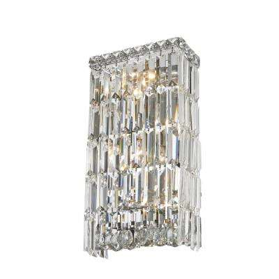 Cascade 4-Light Chrome and Clear Crystal Sconce