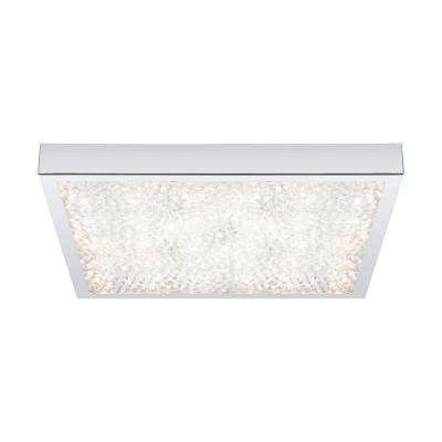 Cardito 1-Light Chrome and Crystal Flushmount