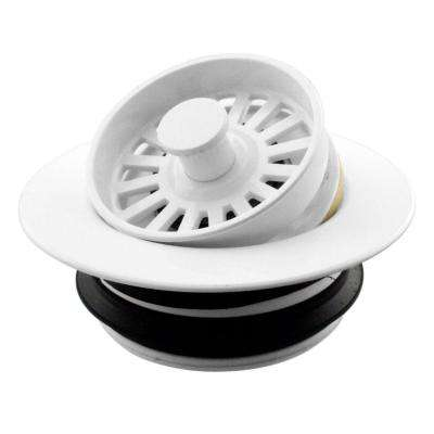 Universal Disposal Ring and Strainer Stopper in White
