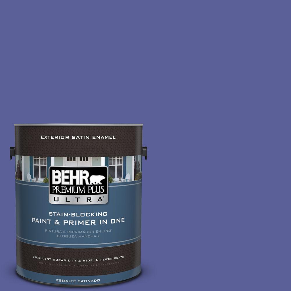 BEHR Premium Plus Ultra 1-gal. #P550-6 Wizard's Potion Satin Enamel Exterior Paint