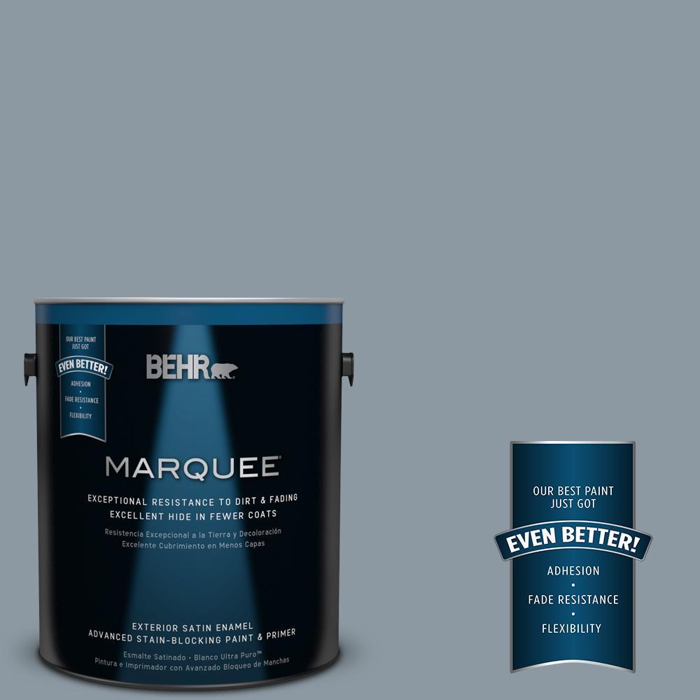 1-gal. #N490-4 Teton Blue Satin Enamel Exterior Paint
