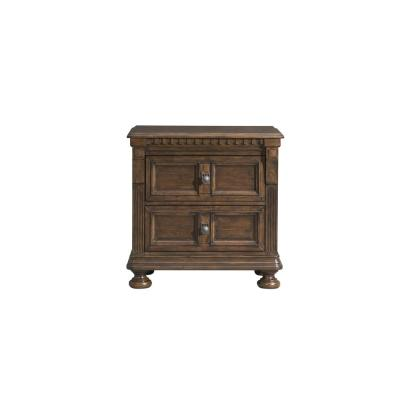 Henry 2-Drawer Nightstand with USB in Walnut