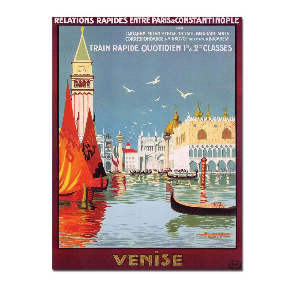 Trademark Fine Art 35 in. x 47 in. Venise Canvas Art