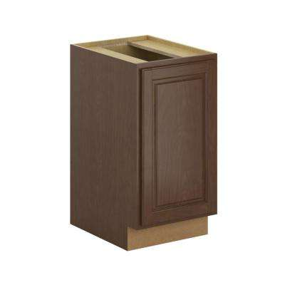 Madison Assembled 18x34.5x24 in. Pull Out Trash Can Base Kitchen Cabinet in Cognac