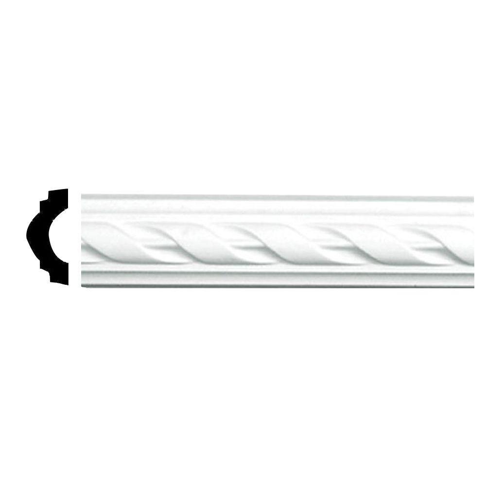 Ekena Millwork 3/4 in. x 1-5/8 in. x 94-1/2 in. Polyurethane Jackson French Ribbon Panel Moulding