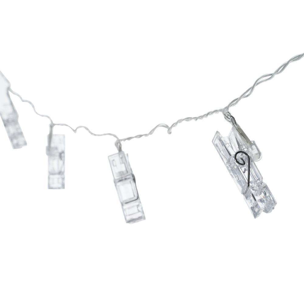 10-Light Clear LED Clip String Light