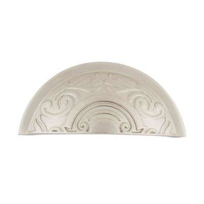3 in. (76 mm) Satin Nickel Drawer Cup Pull Victorian