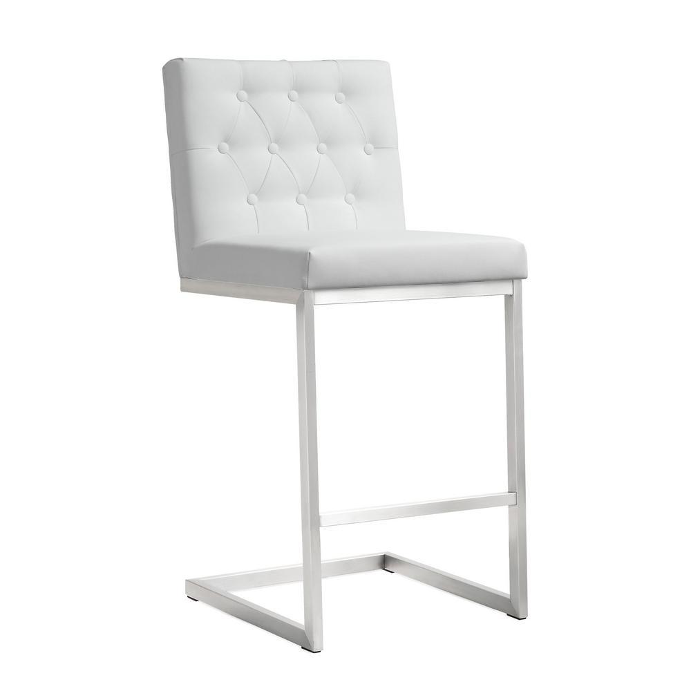 Tov Furniture Helsinki White Steel Counter Stool Set Of 2