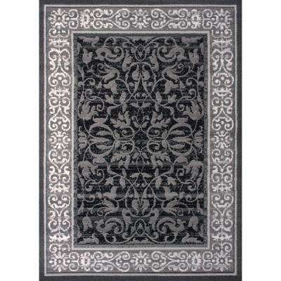 Dallas Baroness Grey 5 ft. x 7 ft. Indoor Area Rug
