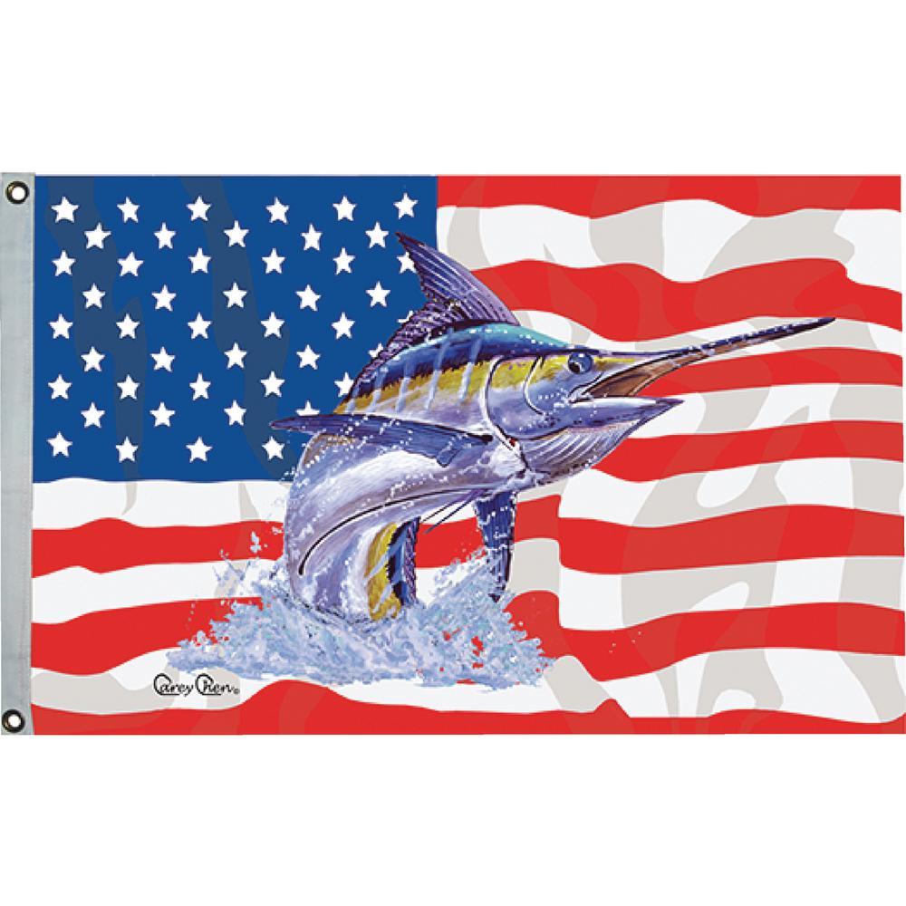 Carey Chen USA Fish Flag