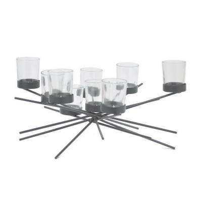 7.5 in. Black Metal Candle Holder