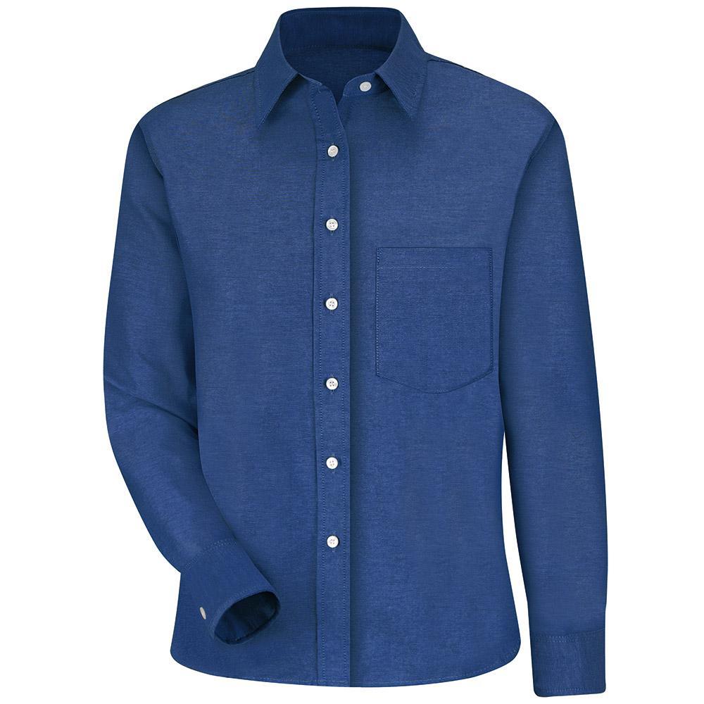 Women's Size 26 French Blue Oxford Dress Shirt