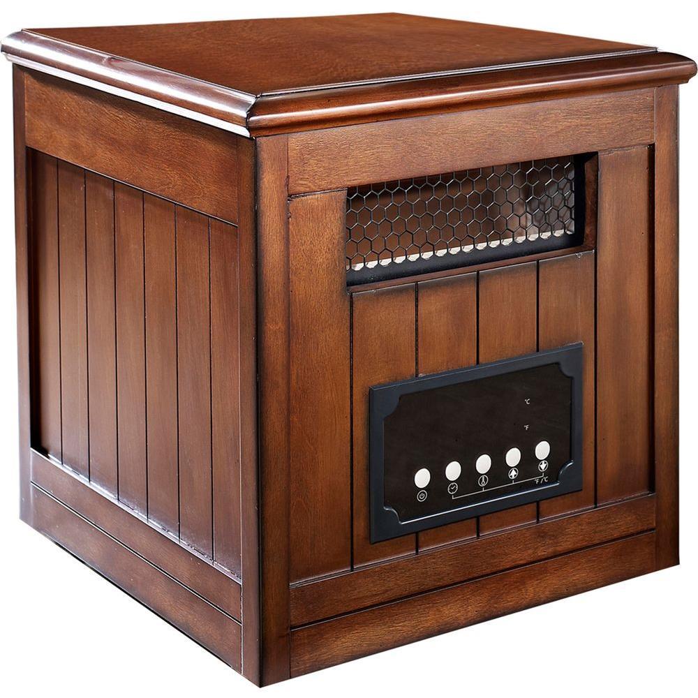 Muskoka 1500-Watt Decorative Side Table Infrared Heater - Burnished Pecan-DISCONTINUED