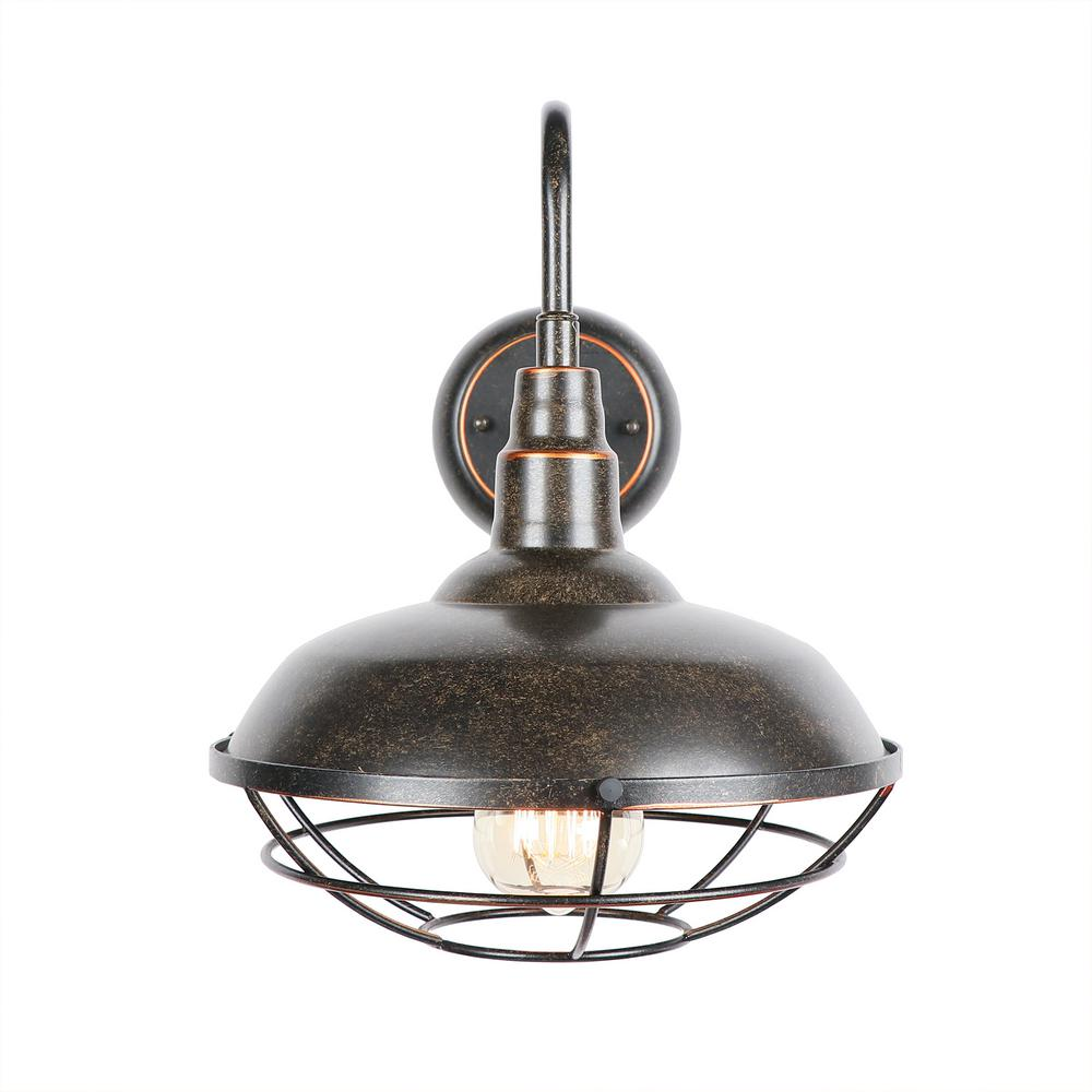 Y Decor 1-Light Oil Rubbed Bronze Outdoor Wall Lighting ... on Outdoor Wall Sconce Lighting id=68637