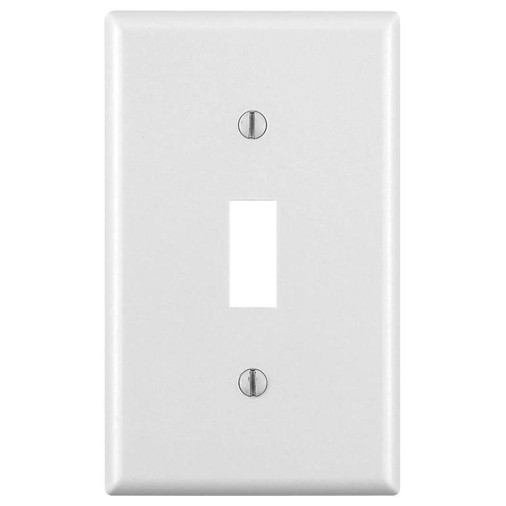 1-Gang Toggle Wall Plate, White (Pack of 10)