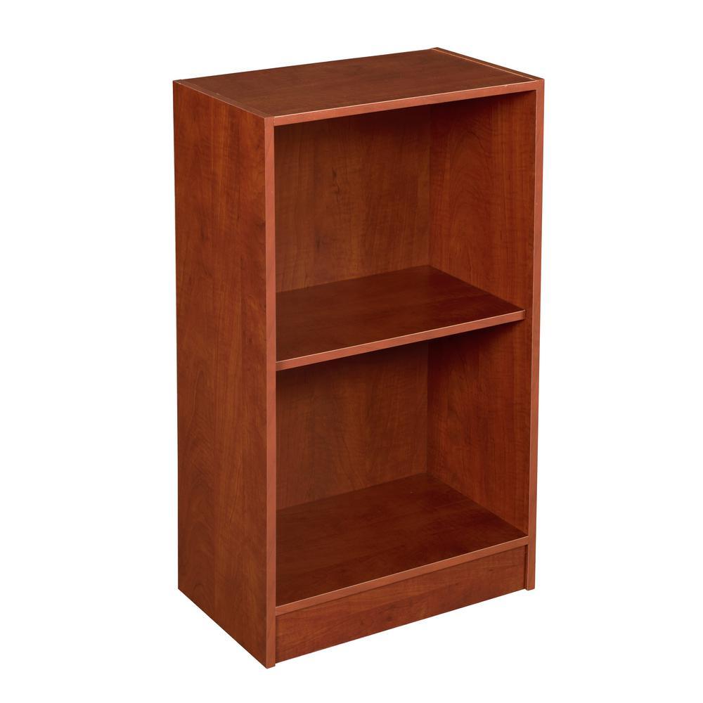 Brasas 2-Shelf Cherry Bookcase