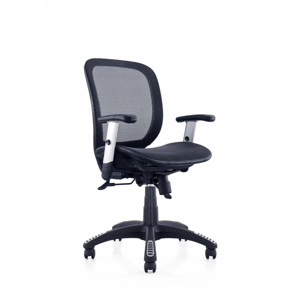 Canary Black Fully Meshed Ergo Office Chair  sc 1 st  Home Depot & Canary Black Fully Meshed Ergo Office Chair-MSH102BK - The Home Depot