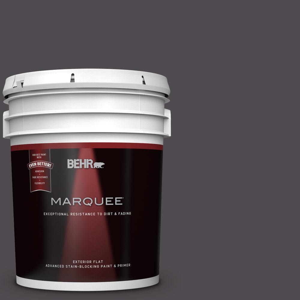 BEHR MARQUEE 5-gal. #N570-7 Black Elegance Flat Exterior Paint
