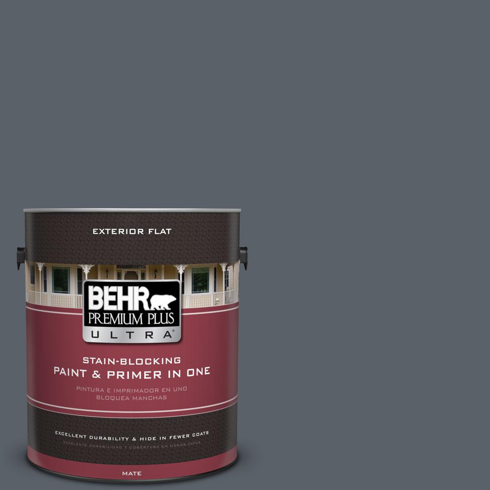 Home Decorators Collection 1-gal. #HDC-AC-25 Blue Metal Flat Exterior Paint