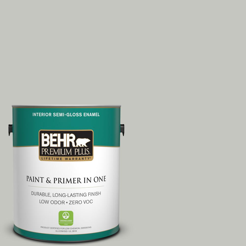 1 gal. #PPU24-16 Titanium Zero VOC Semi-Gloss Enamel Interior Paint