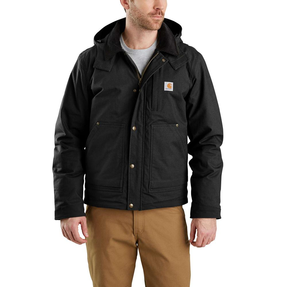 7661d032c Carhartt Men's Regular Large Black Cotton/Cordura Nylon/Spandex Full Swing  Steel Jacket