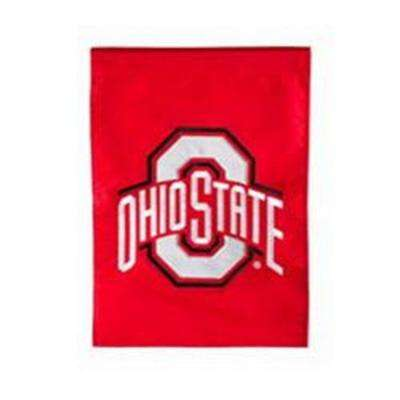 1 ft. x 1-1/2 ft. Ohio State University Applique Garden Flag