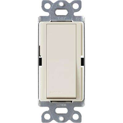 Claro 15 Amp Single-Pole Rocker Switch with Locator Light, Light Almond