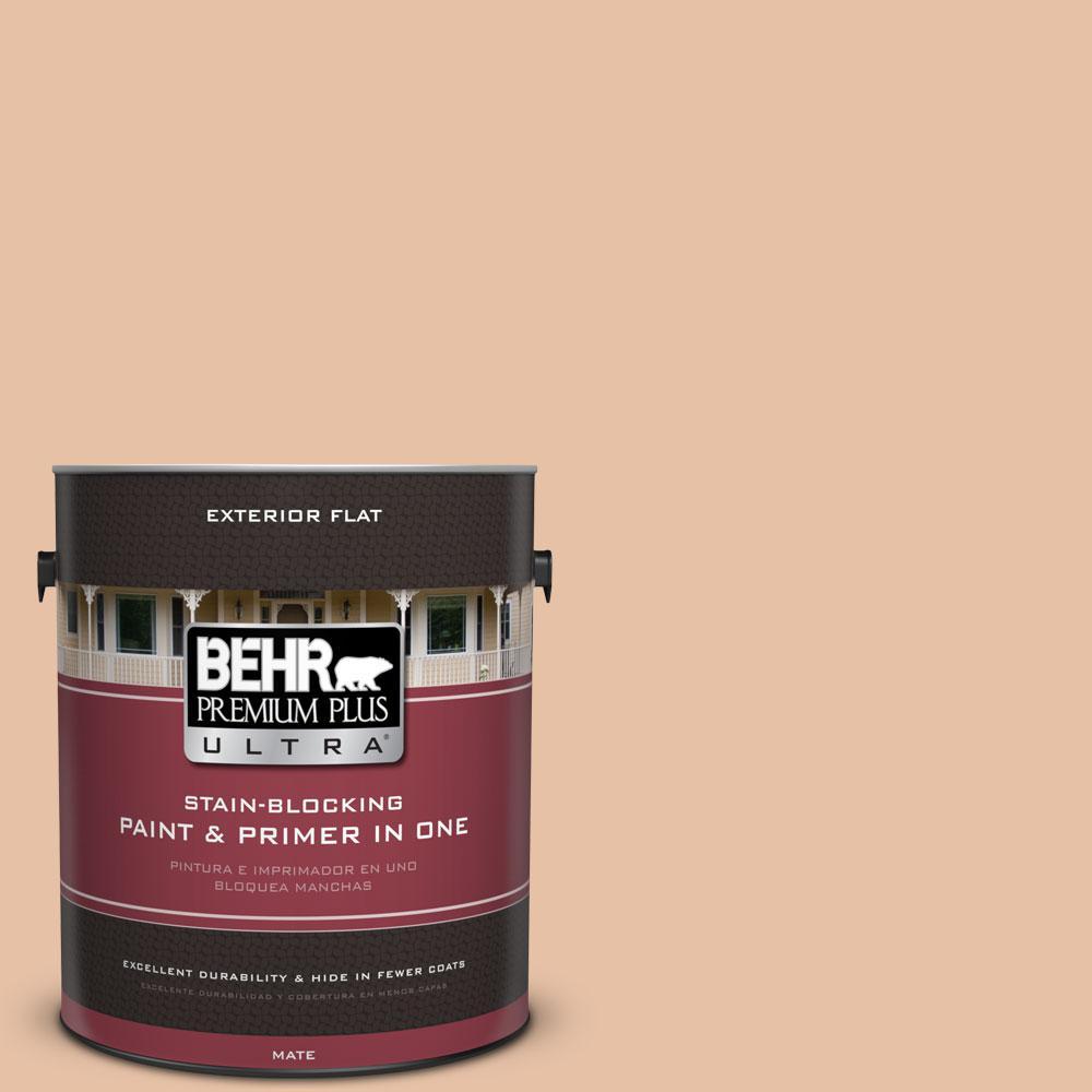 BEHR Premium Plus Ultra 1-gal. #260E-3 Pueblo Sand Flat Exterior Paint