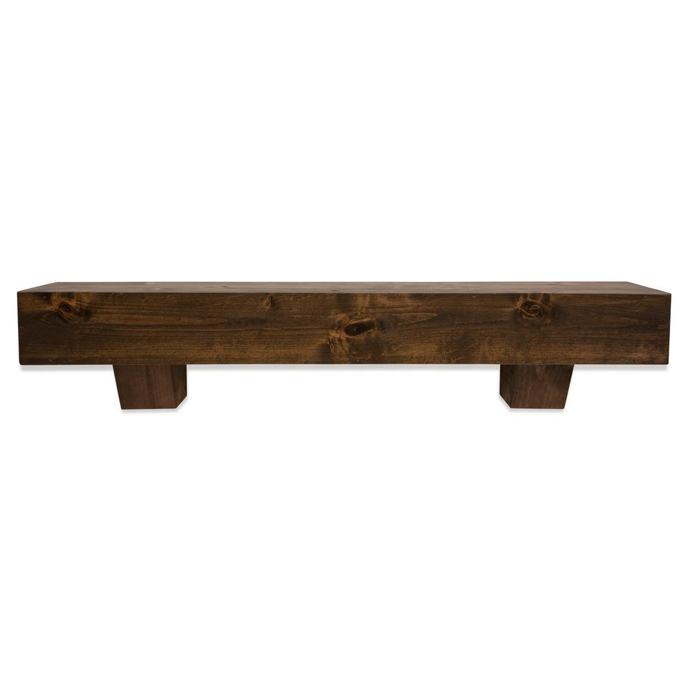 Super Dogberry Collections 5 5 In X 72 In X 9 In Modern Farmhouse Dark Chocolate Mantel With Corbels Download Free Architecture Designs Grimeyleaguecom